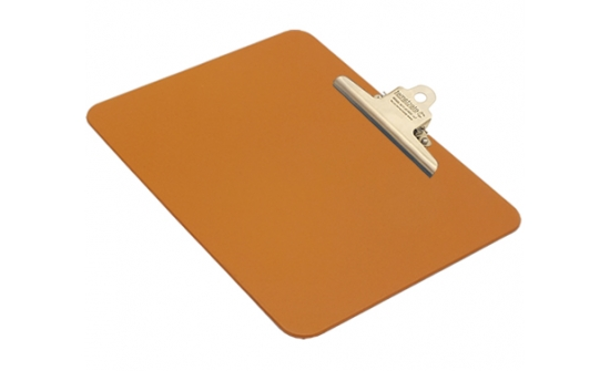 detectable-a4-landscape-clipboard-with-stainless-steel-clip-orange