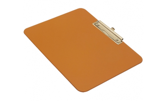 detectable-a4-landscape-clipboard-with-stainless-steel-economy-clip-orange