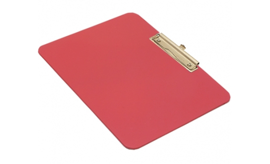 detectable-a4-landscape-clipboard-with-stainless-steel-economy-clip-red