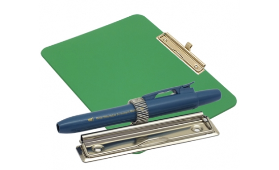 detectable-a4-landscape-clipboard-with-zinc-plated-clip-pen-holder-green