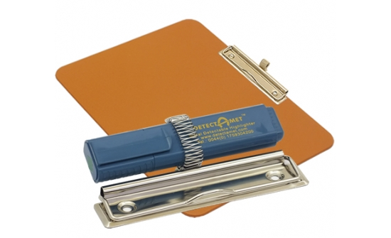 detectable-a4-landscape-clipboard-with-zinc-plated-clip-pen-holder-orange