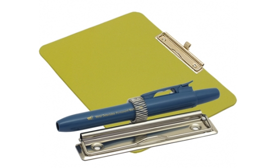 detectable-a4-landscape-clipboard-with-zinc-plated-clip-pen-holder-yellow