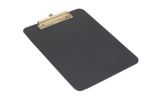 detectable-a4-portrait-clipboard-with-stainless-steel-economy-clip-black