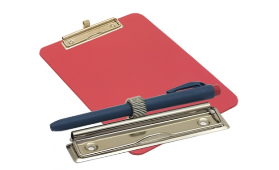 detectable-a4-portrait-clipboard-with-zinc-plated-clip-pen-holder-red
