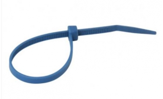 Nylon cable ties blue