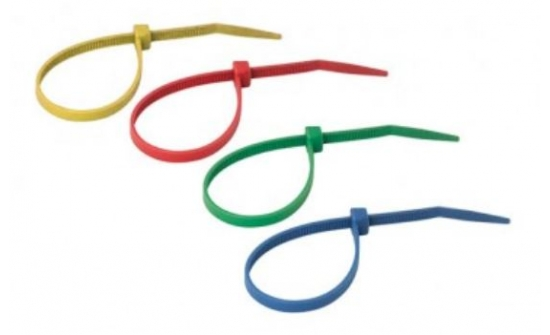 Nylon cable ties colored