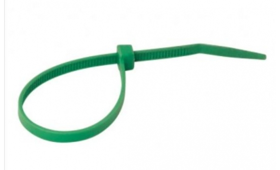 Nylon cable ties green