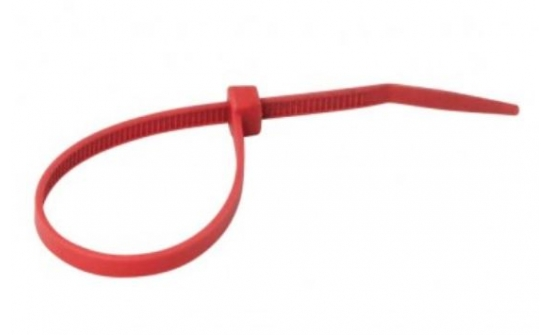 Nylon cable ties red