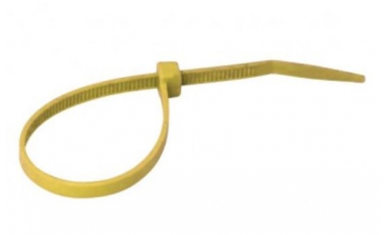 Nylon cable ties yellow