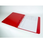 red ringbinder open