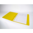 yellow ringbinder open