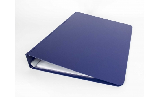blue ringbinder closed