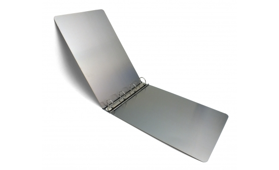 a3-stainless-steel-ringbinder-open